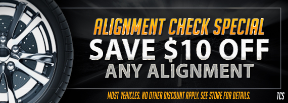 Tire Source Promotions Alignment Special Free Alignment Check